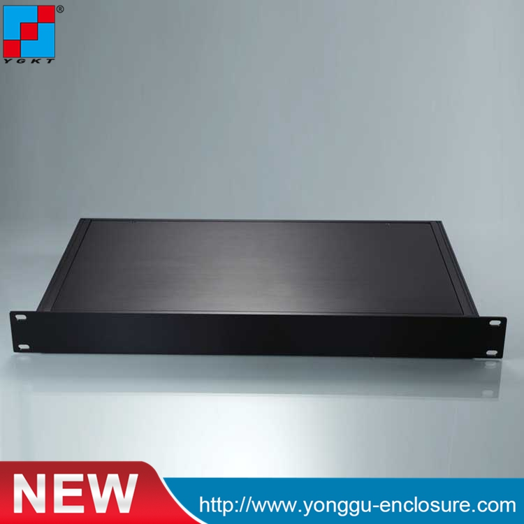YGH-003--1u 482*44.5*250 mm aluminum underground junction boxes extrusion diy aluminum chassis 482 133 4 295 250mm aluminum communication video aluminum frame chassis housing case with handle ygh 002 3u