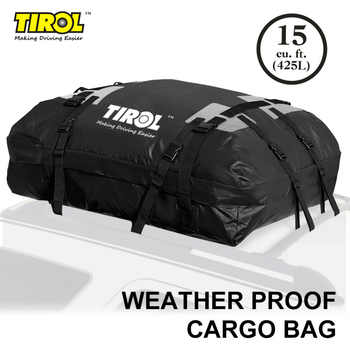 TIROL Waterproof Roof Top Carrier Cargo Luggage Travel Bag (15 Cubic Feet) For Vehicles With Roof Rails T24528a Free Shipping - DISCOUNT ITEM  12% OFF All Category
