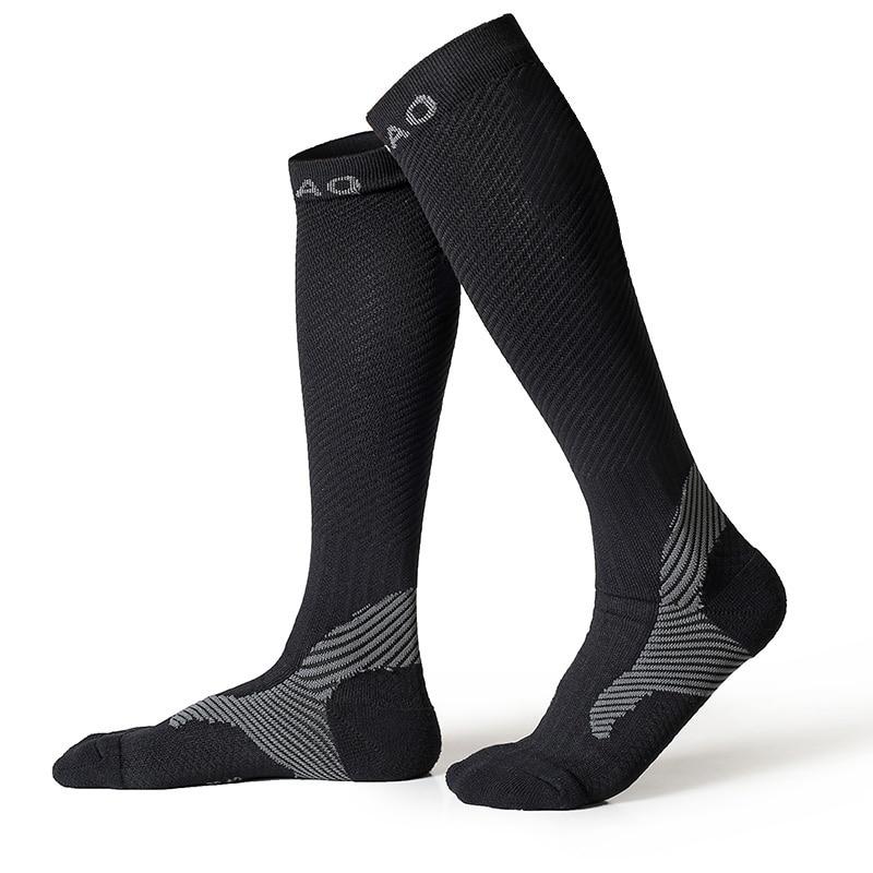 RB7703 R-Bao férfiak / Női profi kompressziós futó harisnyák Kiváló minőségű maratoni sport zokni Gyors szárítású kerékpár zokni