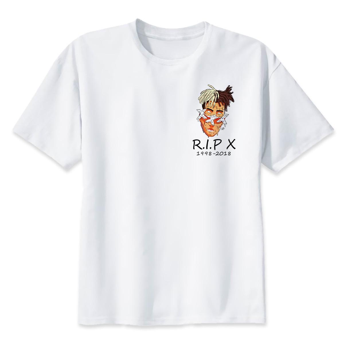 Xxxtentacion R.I.P personaje impreso camiseta moda Casual Fitness Cool o-cuello hombres camiseta verano manga corta hombres ropa