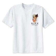 Xxxtentacion R.I.P характер принт футболка модные Повседневное Фитнес Прохладный О-образным вырезом Для мужчин футболка летние шорты рукавом Для мужчин Костюмы