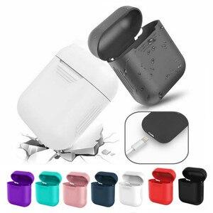 Image 1 - Funda de silicona para airpods, funda de silicona para airpods, limpieza/Piel, TPU, 17 colores, auriculares inalámbricos