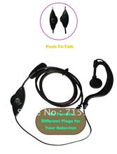 Freeship Motorcycle helmet for Walkie Talkie Earpiece Earhook Earphone Headphone with PTT Different Plugs for Selection