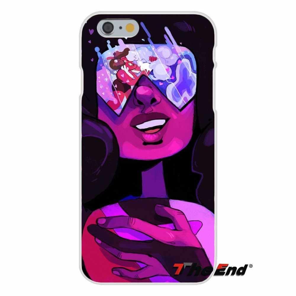 Для iPhone X 4 4s 5 5S 5C SE 6 6 S 7 8 Plus Galaxy большое ядро Prime Alpha Steven Universe Аметист плакат Мягкий силиконовый чехол