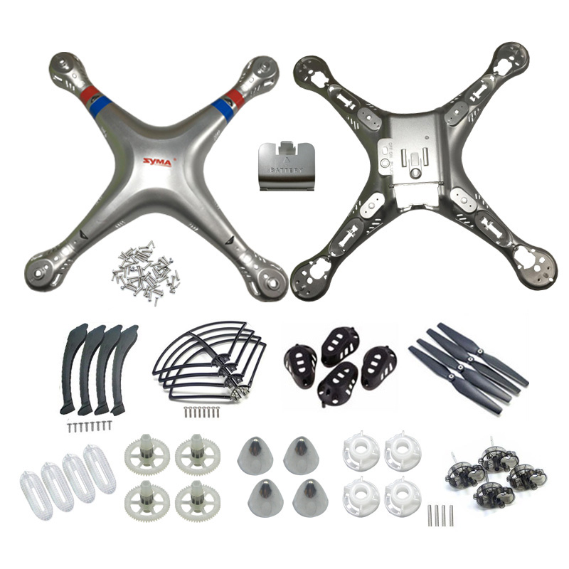 RC Drone Plastic Parts Kits Main Body Shell Cover Gear Propeller Protective Frame Landing Skid And Screw For SYMA X8G X8W X8C propeller protective guard landing skid for x8c x8w x8g x8hg x8hw blue