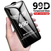 99D verre protecteur pour iPhone 6 6S 7 8 plus X XR XS 11 pro MAX verre sur iphone 7 6 11 X XS MAX XR protecteur décran de protection