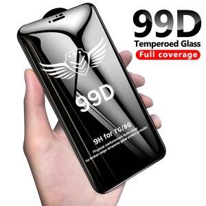 Image 1 - 99D verre protecteur pour iPhone 6 6S 7 8 plus X XR XS 11 pro MAX verre sur iphone 7 6 11 X XS MAX XR protecteur décran de protection
