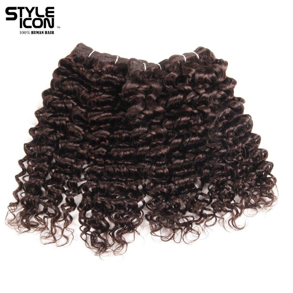 Styleicon brasileño Jerry Pelo Rizado de la armadura de la onda 4 paquetes oferta 190g 1 Pack paquetes de cabello humano Color 2 no Remy extensiones de cabello