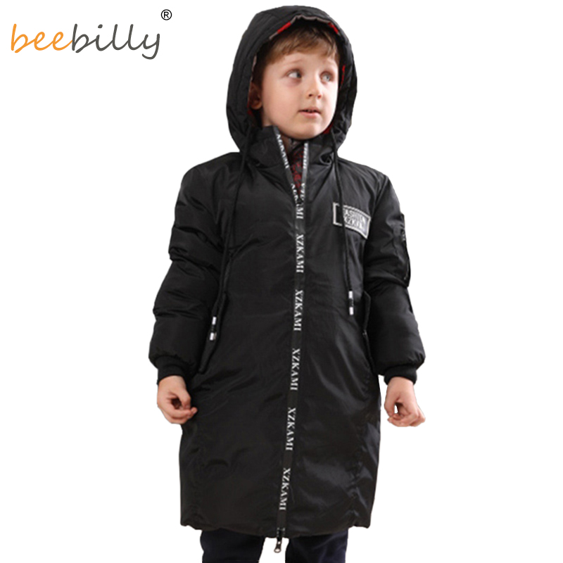 Boys' Clothing Boys Camouflage Down Jacket For Boy Winter Jackets Kids Warm Outerwear Coats Children Hooded Long Clothes Parkas