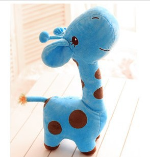 Free Ship Cute Blue Giraffe Doll Plush Toys Stuffed Children Gift