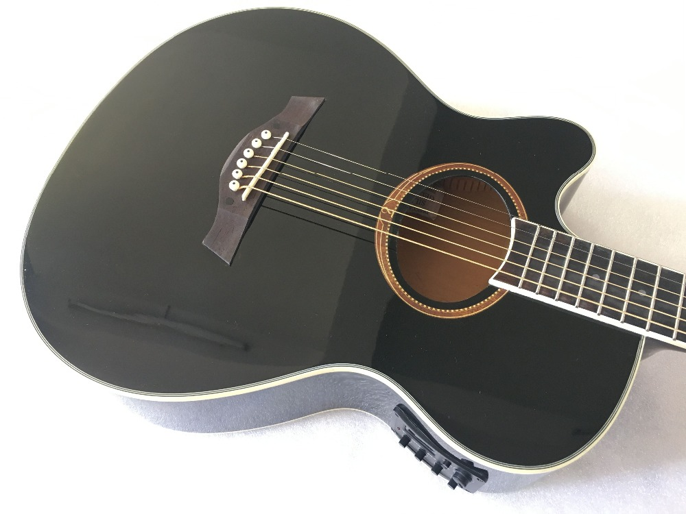 left hand acoustic electric guitar with tuner free shipping in guitar from sports. Black Bedroom Furniture Sets. Home Design Ideas