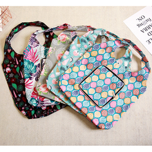 5Style Oxford Foldable Shopping Bag Flower Print Eco Handy Reusable Tote Pouch Recycle Storage Folding