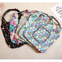 купить 5Style Oxford Foldable Shopping Bag Flower Print Eco Foldable Handy Reusable Tote Pouch Recycle Storage Bag Folding Shopping по цене 224.7 рублей