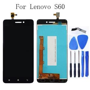 Image 1 - Para Lenovo S60 S60W S60T S60A Original digitalizador de pantalla táctil LCD Panel de pantalla de reemplazo + herramientas libres
