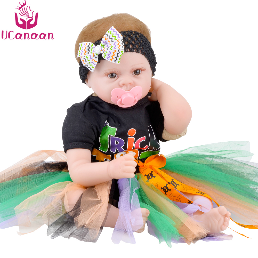 UCanaan 22'' Doll Reborn Cloth Body Baby Born Toys For Children Handmade Alive Silicone Kawaii Dolls For Girls Juguetes DIY Toy 18 inch dolls handmade bjd doll reborn babies toys for children 45cm jointed plastic toy dolls for girls birthday gifts juguetes