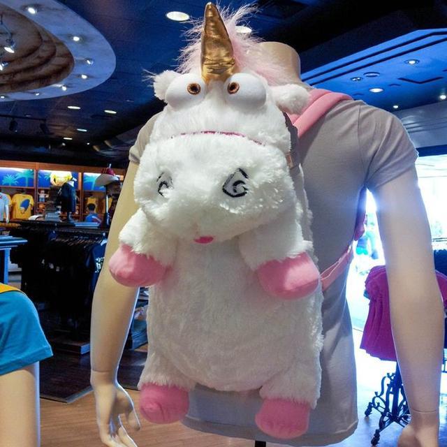 3D Despicable Me 2 Unicórnio De Pelúcia Mochila Despicable Me Unicorn Backpack Crianças Saco de Escola Das Crianças Do Bebê Da Menina Bolsas de Ombro
