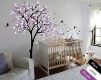 Large Nursery Tree Cute Pattern Art Wall Stickers Home Sweet Kids Bedroom Beautiful Decor Vinyl Huge Tree Wall Decals Wm 571