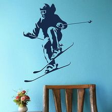 Free Shipping-Skiing Sport Wall Art Decor decor sticker Sticker Home Decal Mural Poster