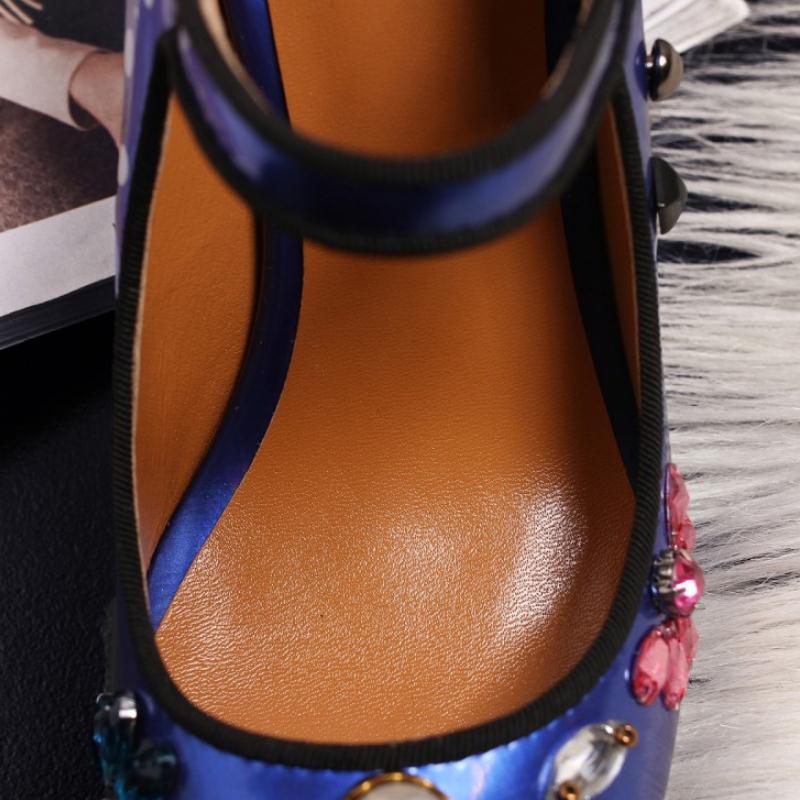 Rizabina Tamaño 40 Azul Calidad Pie Alta De Pasarela Zapatos Bombas Tacón Puntiagudo Vintage Mujer Mujeres Alto Impreso Dedo Clásico 33 plata Calzado Del rFfrR