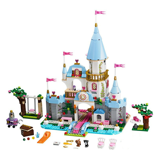 SY325 79279 Cinderella Princess Romantic Castle Model Building Kits Figure Girl Blocks Bricks Toy Compatible Blocks girls gift
