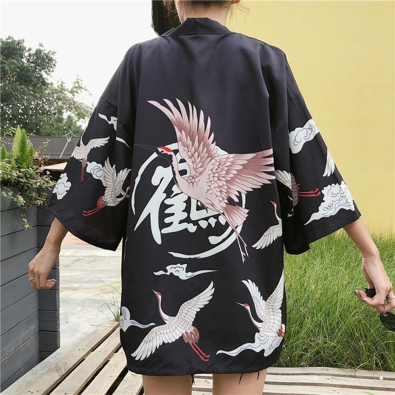 Japanese Kimono Traditional Woman 2019 Long Kimono Cardigan Cosplay Blouse Shirt Yukata Female Japanese Dress Haori Geisha FF001
