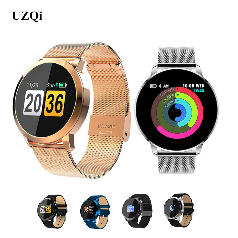 UZQi Smartwatch Women Men Ladies Sport Fitness Heart Rate Tracker Bracelet  Bluetooth Android ISO Pedometer Wristband Smart Watch