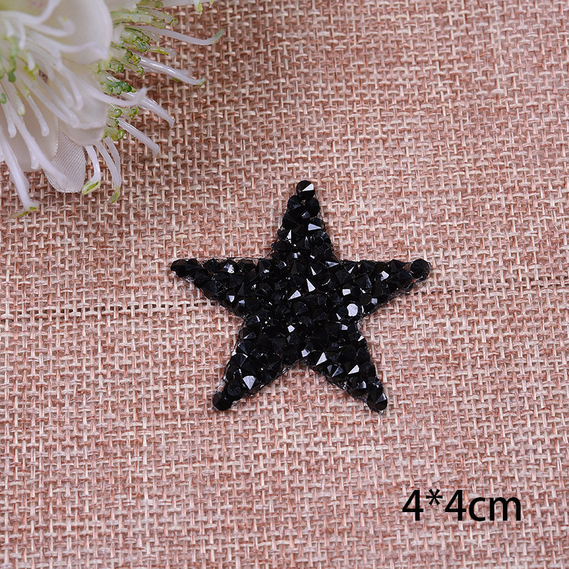Multiple Sizes Crystal Rhinestone Star Patches for Clothing Iron on Clothes  Appliques Badge Stripes Diamond Pentagram Stickers-in Patches from Home    Garden ... 2cde4f162ea1