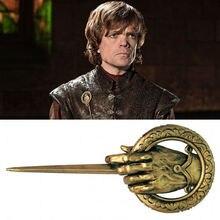 Juego de tronos mano del rey insignia de cosplay broche de aleación metálica Pin