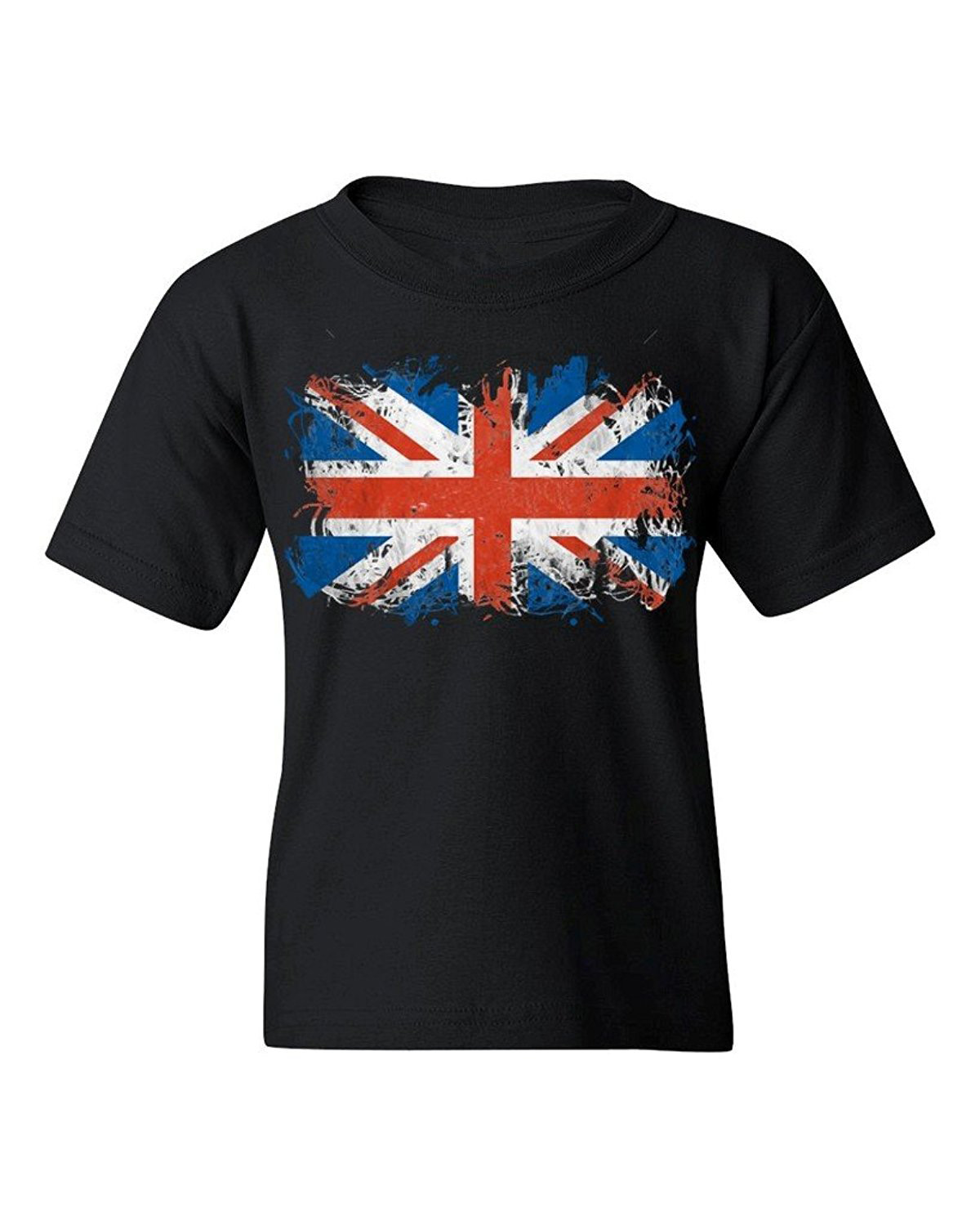 High Quality T-Shirt Short Sleeve T Shirt Union Jack British Flag Youth'S T-Shirt United Kingdom Flag Top Tee Shirts