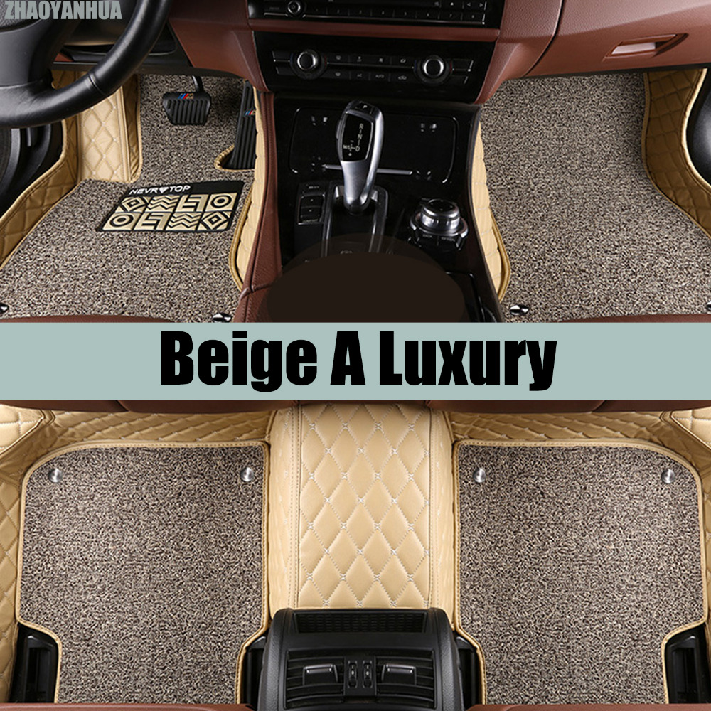 ZHAOYANHUA Car floor mats Special for Nissan patrol Y62 5D car styling all weather heavy duty carpet rugs floor liners custom make waterproof leather special car floor mats for audi q7 suv 3d heavy duty car styling carpet floor rugs liners 2006