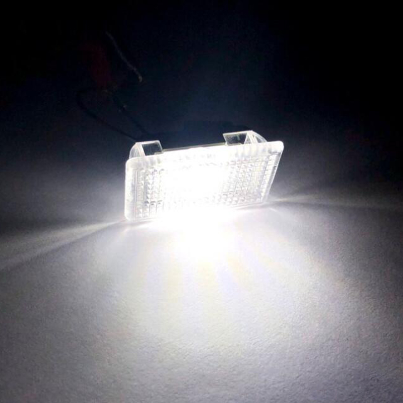 Car LED Door Light Trunk Boot Foot Puddle Glove Box Light Fit for TESLA Model 3 S and X White Car Accessories 2pcs in Signal Lamp from Automobiles Motorcycles