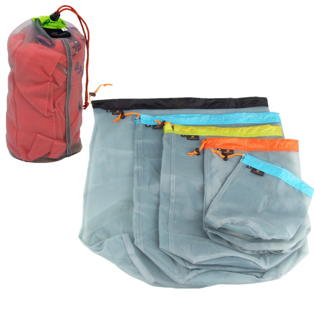 S/m/l/xl/xxl Travel Camping Sports Ultralight Mesh Stuff Sack Drawstring Storage Bag Stuff Sack Drawstring Bag Sleeping Bags
