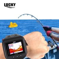 Wireless Watch Type Mini Sonar Fish Finder Wireless Fishfinder 180Feet 60M Range Echo Outdoor Lake Fishing