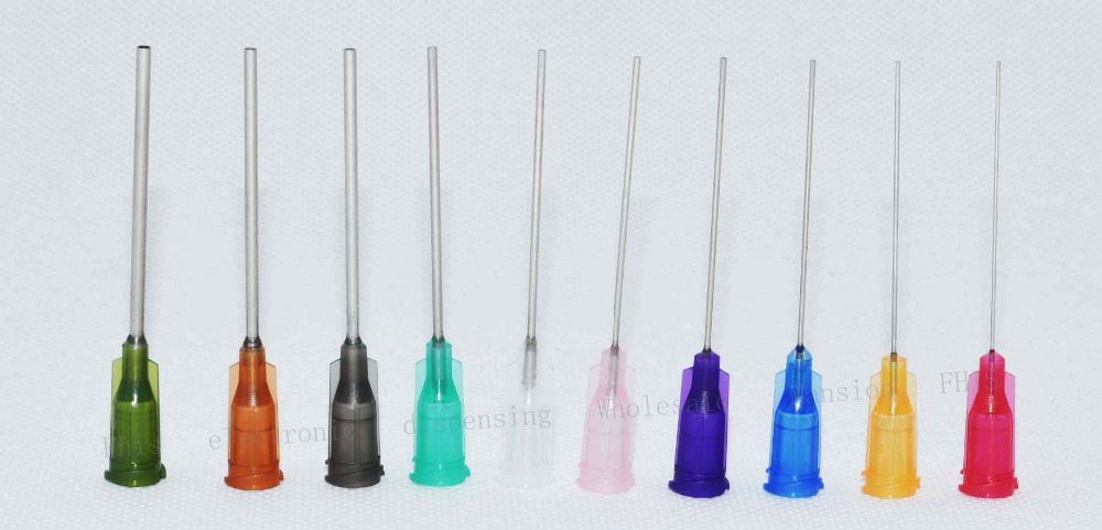 Wholesale 10000PCS 14G-27G 1.5-Inch(38.1mm) tubing length,Precision Blunt S.S. dispensing Tips with PP safety-lock hub