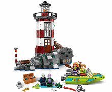 NEW 437pcs Bela 10431 Haunted Lighthouse Scooby Doo Dog Model Minifigures Bricks Blocks 3D Kids Toy Gifts Compatible with Legoe