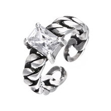 100% 925 sterling silver thai silver shiny cz zircon fashion ladies`finger wedding rings women gift jewelry female cheap ring 925 sterling silver colored zircon ring face double snake thai silver ring