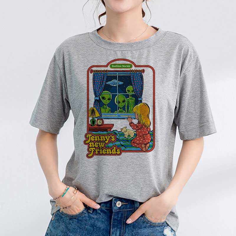 Korean Clothes 90s Vintage Tshirt Women 80s Tumblr Female T-shirt Women Funny Streetwear Ladies Jennys New Friends Tee Shirt(China)