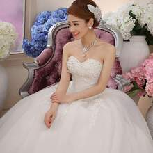29d984cfd993a z w Stock 2016 New Plus size bridal gown women wedding dress lacing sweet  princess diamond decoration
