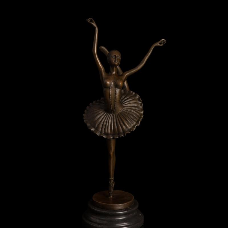 Artisanat en cuivre bronze ballerine danse statue statue art figurines czs-317Artisanat en cuivre bronze ballerine danse statue statue art figurines czs-317