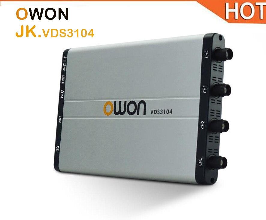 купить hot OWON VDS3104 100MHz PC based USB Oscilloscope 4+1 (multi) channels 1GS/s 10M Record Length oscillograph по цене 29684.99 рублей