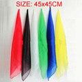 6pcs/lot 45*45cm Magic Silk Change Color Silk Scarf Multicolor ultra-thin Scarves Magic Tricks for Stage Close Up Magic Props