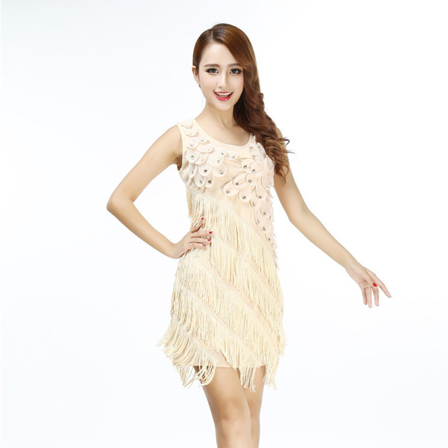 Fringe tiered party dress for women