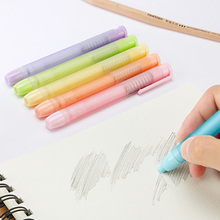Cute Frosted Erasers Pen Press Pencil Rubber Eraser Correction Supplies for Kids Students Gift Korean Stationery Candy Color