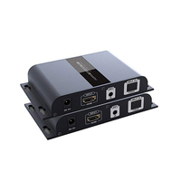 LKV378A Single Mode HDMI Fiber Optical Extender Repeater with IR control up to 20KM suport one Transmitter to Multiple Receivers