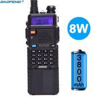 Baofeng UV 5R 8W High Power Version 10km Long Rang Two Way Radio VHF UHF Dual Band Portable Radio Walkie Talkie Baofeng UV 5R