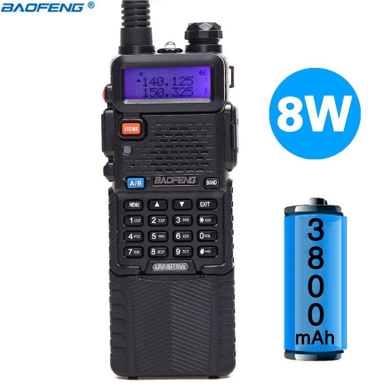 Baofeng UV-5R 8 W Haute Puissance Version 10 km Long Rang Deux Way Radio VHF UHF Double Bande Radio portable Talkie walkie Baofeng UV 5R