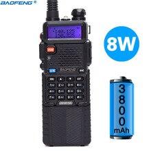 Baofeng UV 5R 8 w versão de alta potência 10km longo tocou em dois sentidos rádio vhf uhf banda dupla portátil walkie talkie baofeng uv 5r