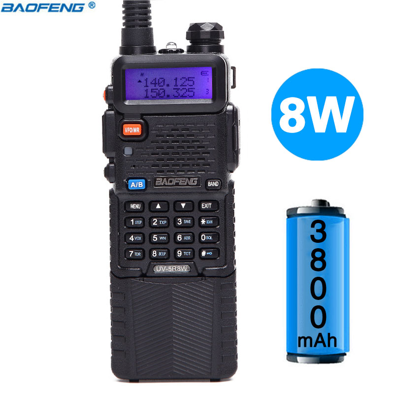 Baofeng UV-5R 8 w Haute Puissance Version 10 km Longue Portée Radio Bidirectionnelle VHF UHF Double Bande Radio Portable talkie-walkie Baofeng UV 5R