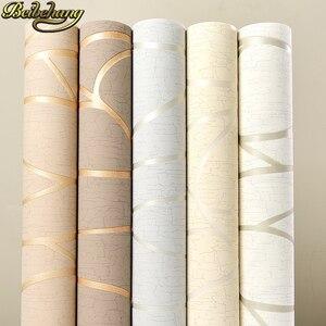 Image 2 - Beibehang papelデparede 3dフローリングストライプ曲線の壁紙 3 dためのリビングルームのベッドルームの壁紙現代