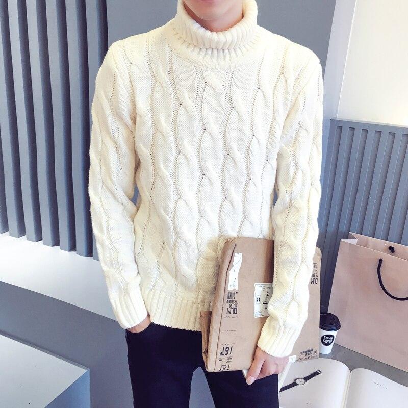 otoño invierno nuevo suéter de cuello alto suéter masculino camisa - Ropa de hombre - foto 3